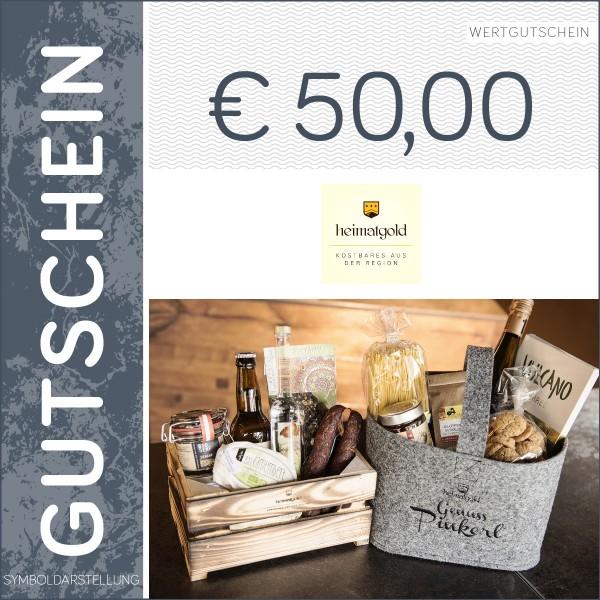 50 Euro Gutschein - Heimatgold